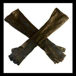 Kiki De Montparnasse Leather Fingerless Gloves 6.5